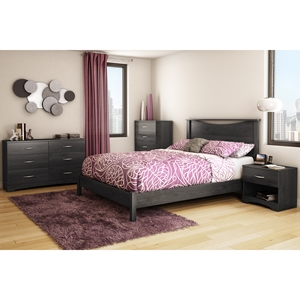 Step One Queen Platform Bedroom Set - Gray Oak