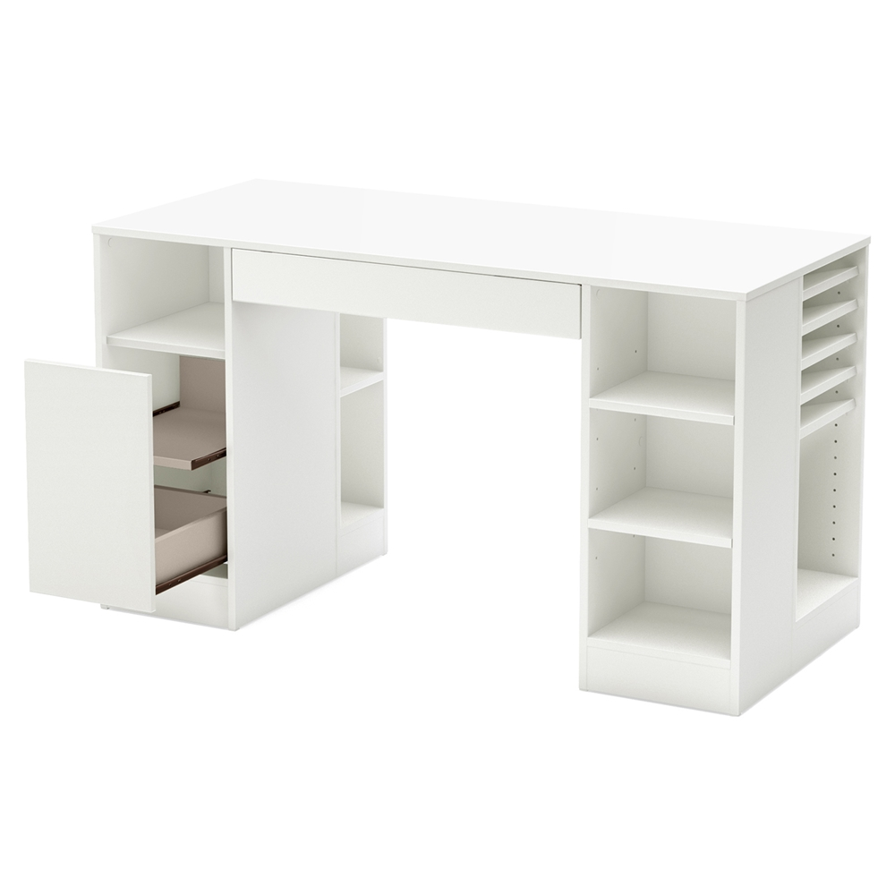 South Shore Furniture Crea Collection Craft Table White
