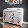 Cotton Candy Changing Table - Removable Top, Magic Forest Decal, Pure White - SS-8050002K