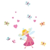 Joy Fairy and Butterflies Wall Decals Set - Pink, Blue - SS-8050013