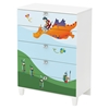 Andy Chest with Dragon Decals - Pure White, 5 Drawers - SS-8050015K