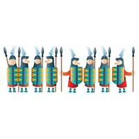 Andy Knights Wall Decals Set - Blue, Red