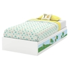 Andy Twin Mates Bedroom Set - 5 Drawers, Pure White - SS-8050022K-BED-SET