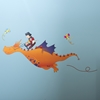 Andy Orange Dragon Wall Decal - SS-8050023