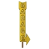 Luka Garage Sign Wall Decal - Yellow - SS-8050029