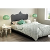Step One Queen Platform Bed - Black Baroque Decal, Pure Black - SS-8050096K