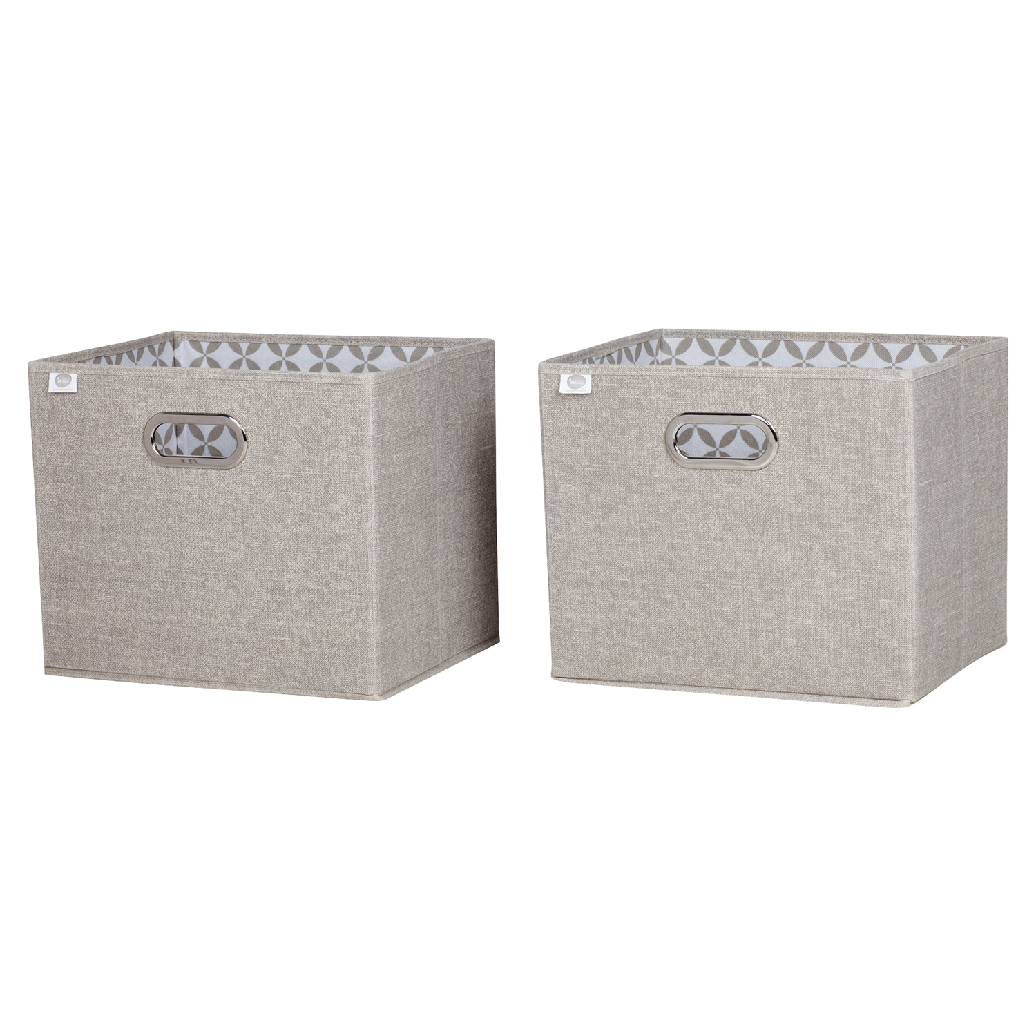 Storit 2 Pack Chambray Fabric Storage Basket - Taupe - SS-8050139