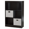 Axess Bookcase - 2 Storage Baskets, 3 Shelves, Chocolate - SS-8050147K