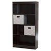 Axess Bookcase - 2 Storage Baskets, 4 Shelves, Chocolate - SS-8050148K
