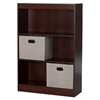 Axess Bookcase - 2 Storage Baskets, 3 Shelves, Royal Cherry - SS-8050150K