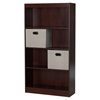 Axess Bookcase - 2 Storage Baskets, 4 Shelves, Royal Cherry - SS-8050151K