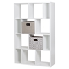 Reveal 12 Cubes Shelving Unit - 2 Fabric Storage Baskets, Pure White - SS-8050153K
