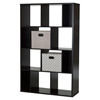 Reveal 12 Cubes Shelving Unit - 2 Fabric Storage Baskets, Chocolate - SS-8050155K