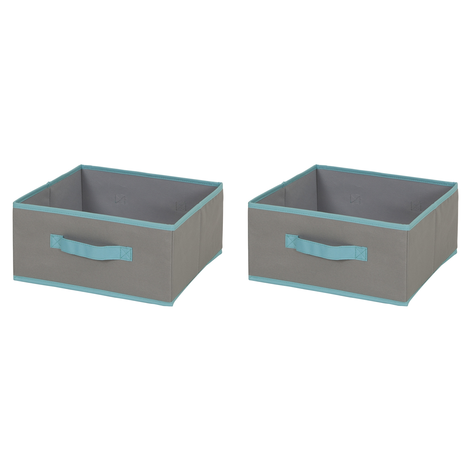 Crea 2 Pack Medium Storage Bin - Gray, Turquoise - SS-8050157