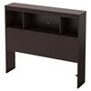 Karma Twin Bookcase Headboard - Chocolate - SS-9000B1