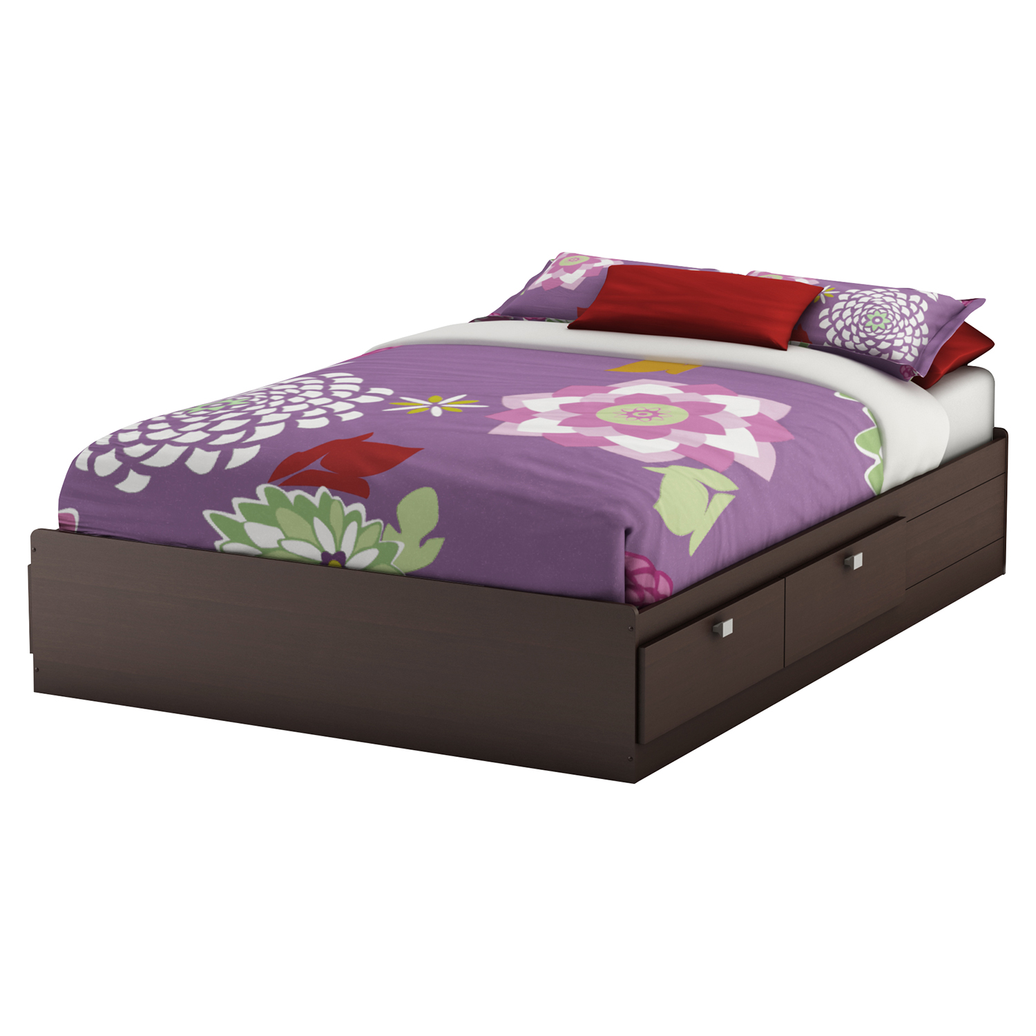Karma Full Mates Bed - 4 Drawers, Chocolate - SS-9000D1