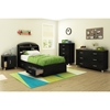 Lazer Twin Mates Bedroom Set - Black Onyx - SS-9005080-BED-SET