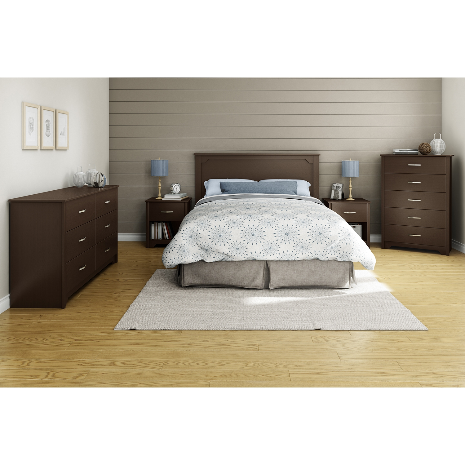 Fusion Full/Queen Headboard - Chocolate - SS-9006270