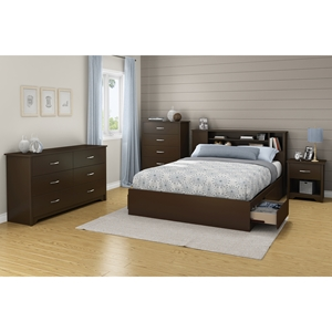 Fusion Queen Mates Bedroom Set - Chocolate