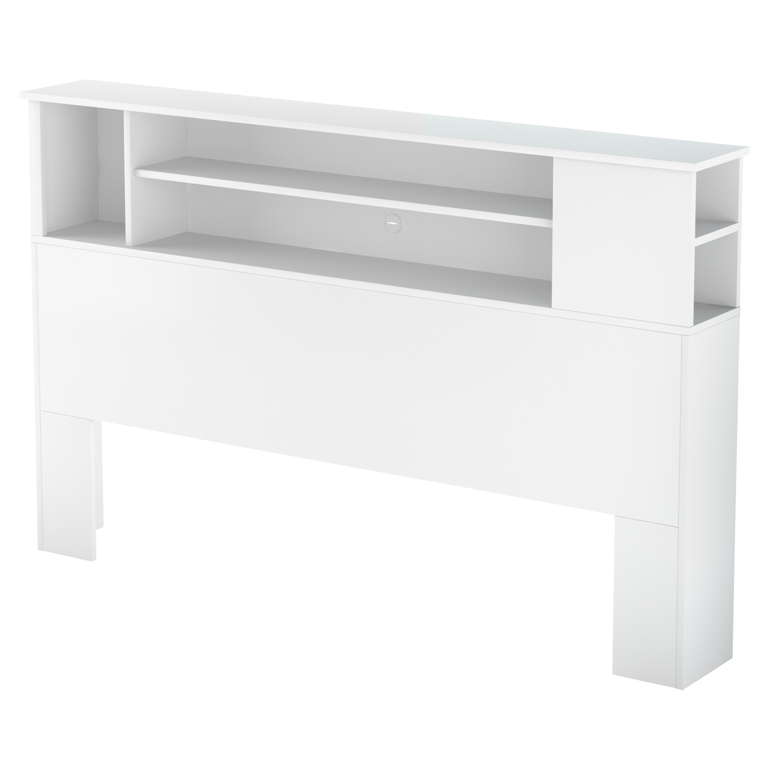 Fusion Full/Queen Bookcase Headboard - Pure White - SS-9007A1