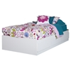 Fusion Twin Mates Bed - 3 Drawers, Pure White - SS-9007D1