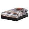Fusion Queen Mates Bedroom Set - Pure Black - SS-9008B1-BED-SET