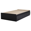 Fusion Twin Mates Bed - 3 Drawers, Pure Black - SS-9008D1