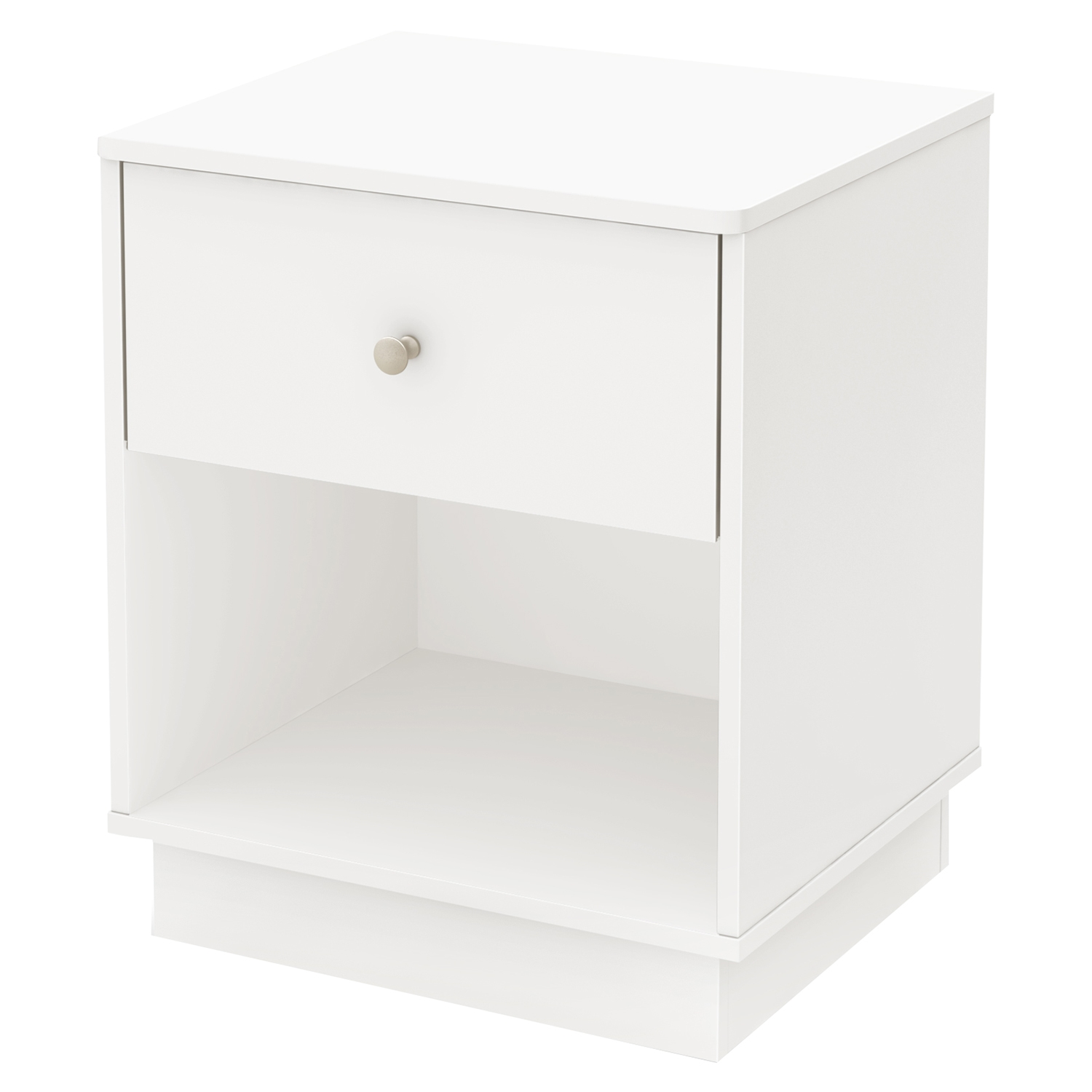 Litchi 1 Drawer Nightstand - Pure White - SS-9011062