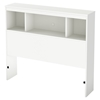 Litchi Twin Mates Bedroom Set - 2 Drawers, Pure White - SS-9011-BED-SET