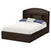 Morning Dew Full Mates Bed - 3 Drawers, Chocolate - SS-9016211