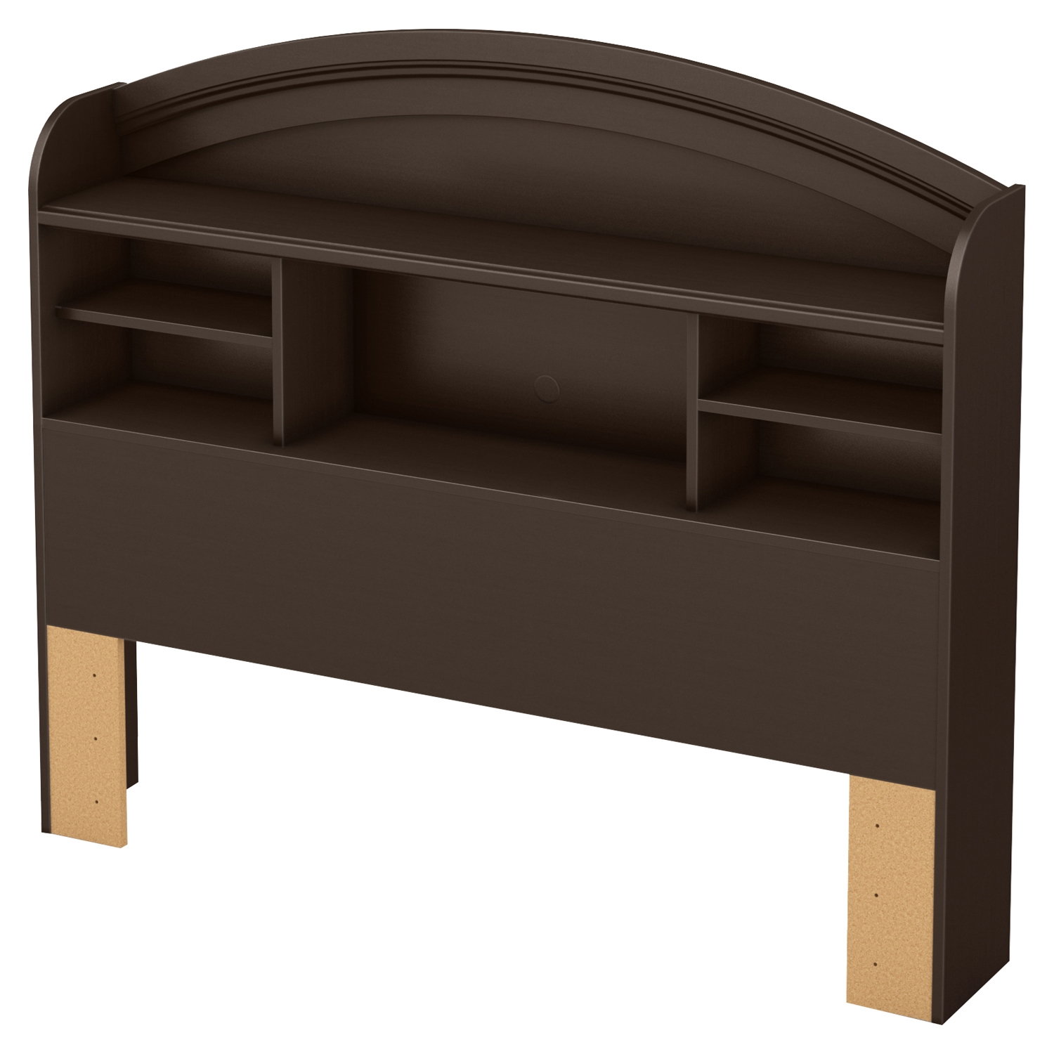 Morning Dew Full Bookcase Headboard - Chocolate - SS-9016093