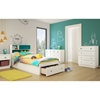 Little Monsters Twin Mates Bed - 1 Drawer, Pure White - SS-9017213