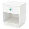 Little Monsters 1 Drawer Nightstand - Pure White - SS-9017062