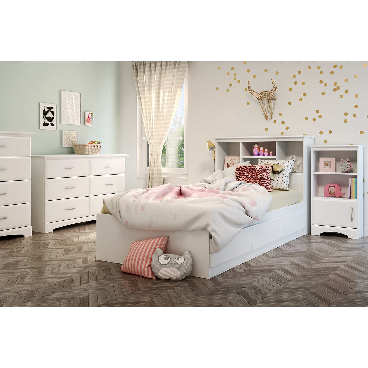Callesto Double Dresser - 6 Drawers, Pure White - SS-9018010