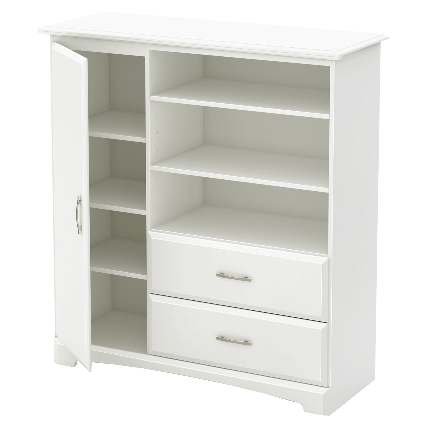 Callesto Armoire - 2 Drawers, Pure White - SS-9018045