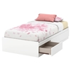 Callesto Twin Mates Bed - 3 Drawers, Pure White - SS-9018A1