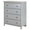 Cotton Candy Chest - 4 Drawers, Soft Gray - SS-9020034
