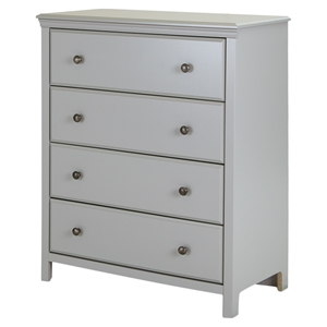 Cotton Candy Chest - 4 Drawers, Soft Gray
