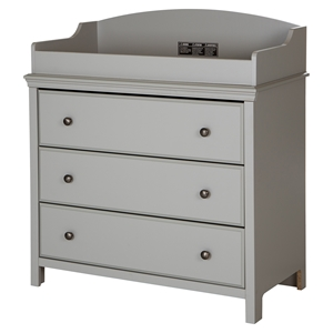 Cotton Candy Changing Table - 3 Drawers, Soft Gray