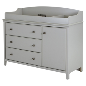 Cotton Candy Changing Table - Removable Changing Station, Soft Gray