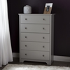 Vito 5 Drawers Chest - Soft Gray - SS-9021035