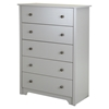 Vito Queen Mates Bedroom Set - 2 Drawers, Soft Gray - SS-9021-BED-SET