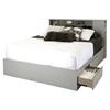 Vito Full/Queen Bookcase Headboard - Soft Gray - SS-9021092