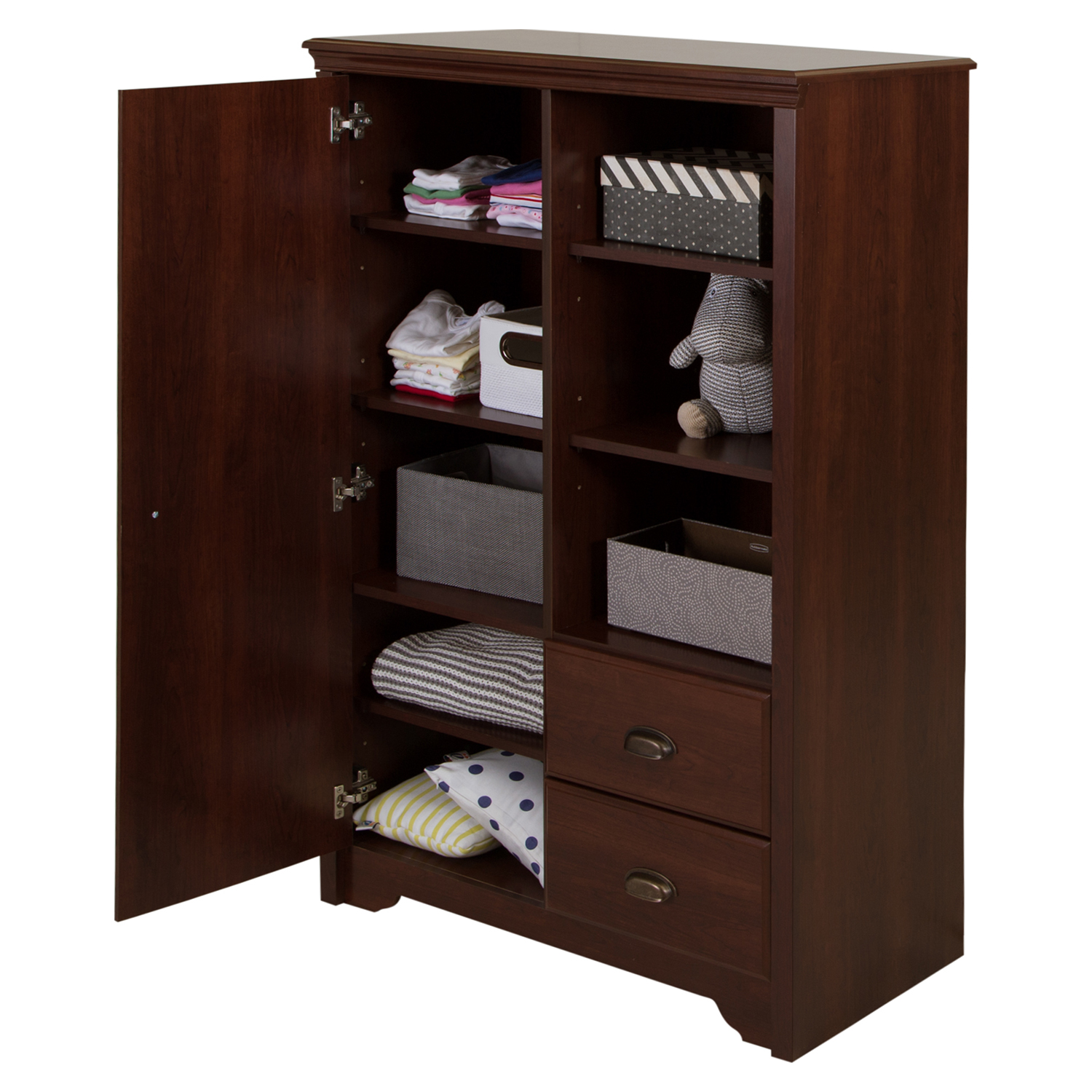 Fundy Tide Changing Table and Armoire - Royal Cherry - SS-9022B2