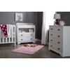 Fundy Tide Changing Table and 4 Drawers Chest - Pure White - SS-9023A2