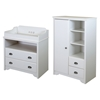 Fundy Tide Changing Table and Armoire - Pure White - SS-9023B2