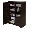 Fundy Tide Armoire - 2 Drawers, Espresso - SS-9024038