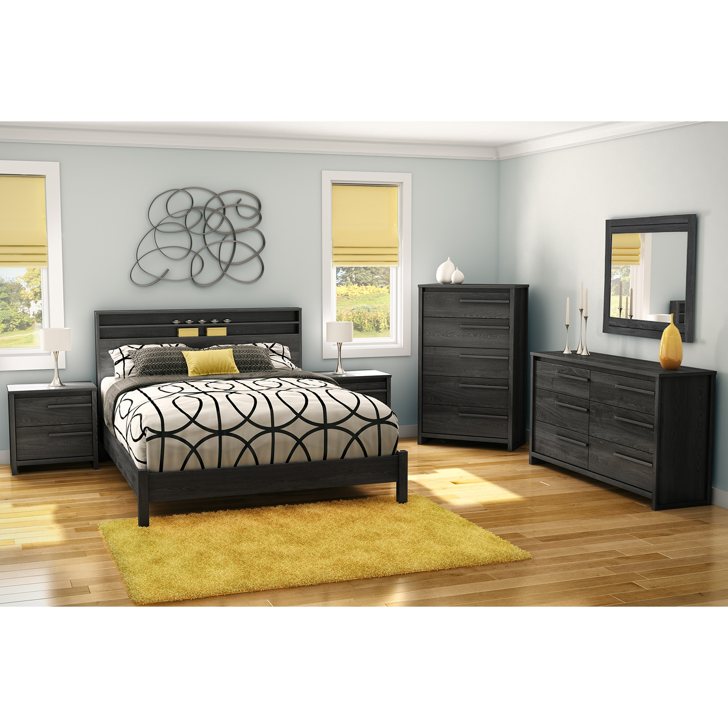 Tao 5 Drawers Chest - Gray Oak - SS-9025035