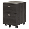 Interface Mobile File Cabinet - 2 Drawers, Gray Oak - SS-9026691