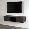 "Agora 56"" Wide Wall Mounted Media Console - Chocolate, Zebrano - SS-9028676"